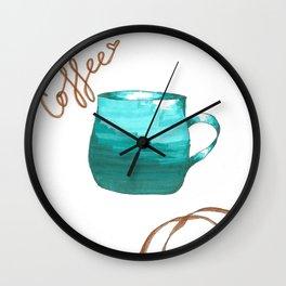 coffee,coffee,coffee Wall Clock