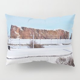 Perce Rock in the Snow Pillow Sham