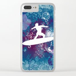 Sport, surfboarder Clear iPhone Case