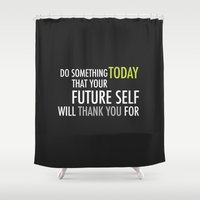 future Shower Curtains featuring Future by Christina Kouli | ilprogetto