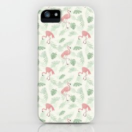 Flamingo Love Tropical iPhone Case