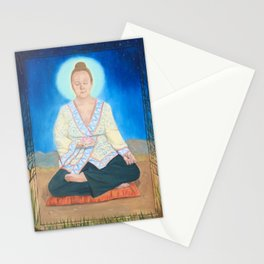 My friend the buddha Stationery Cards