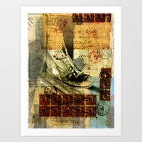 shoe Art Prints featuring Shoe by Echo Designlab