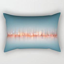 City Panorama ,city lights / skyline at night - Digital Art / abstract cityscape  Rectangular Pillow
