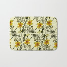 Feathers and Flowers Bath Mat