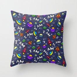I Am Spaceless Throw Pillow