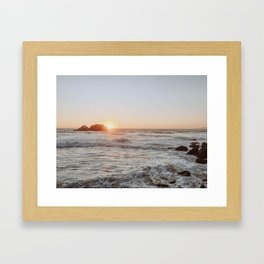 summer sunset iii Framed Art Print