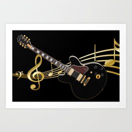 Guitar Music Art Print