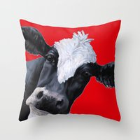emily rickard Throw Pillows featuring Emily by Design i