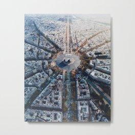 Arc De Triomphe, Paris Metal Print