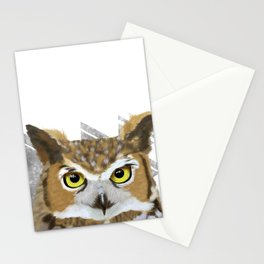 Great Horned Owl & Poly Thoughts Stationery Cards