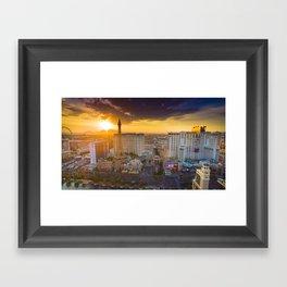Beautiful sunrise in Las Vegas Framed Art Print