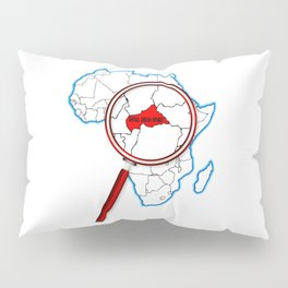 Central African Republic Under A Magnifying Glass Pillow Sham