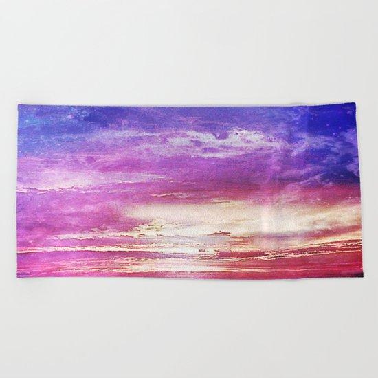Sunset skies Beach Towel