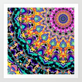 Ornate Spectral Abstract Art Print