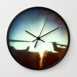 Sea-Tac At Sunset Wall Clock