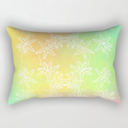 Spring Daisy Vines Rectangular Pillow