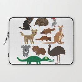 Animals Australia: Echidna Platypus ostrich Emu Tasmanian devil Cockatoo parrot Wombat crocodile Laptop Sleeve