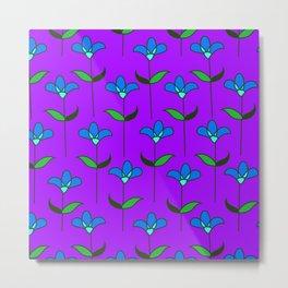 Genevieve - Purple and Blue Metal Print