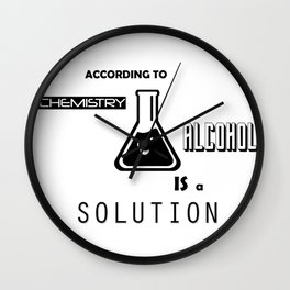 Can't Argue With Science Wall Clock
