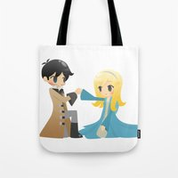 captain swan Tote Bags featuring OUAT - Captain Swan by Choco-Minto