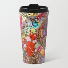 Vintage Yarn & Thread Travel Mug