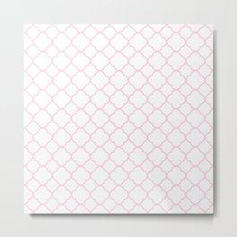 Pink, Baby: Quatrefoil Clover Pattern Metal Print