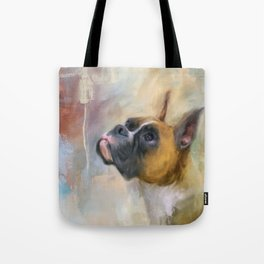 Flashy Fawn Boxer Tote Bag