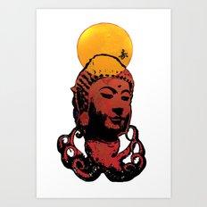 Buddha-octopus Art Print