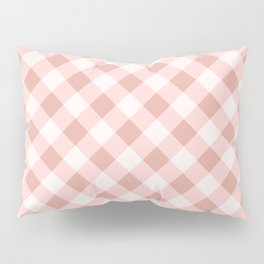 Diagonal buffalo check pale pink Pillow Sham
