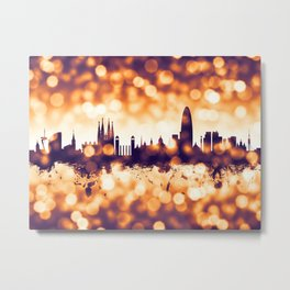 Barcelona Spain Skyline Metal Print