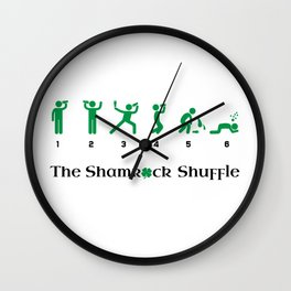 The Shamrock Shuffle Wall Clock
