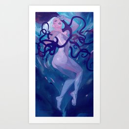 Octopus Queen Hannah  Art Print