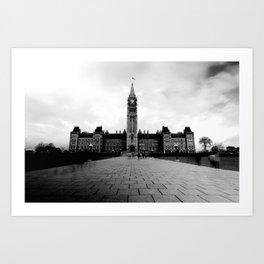 Parliament Hill - B&W Art Print
