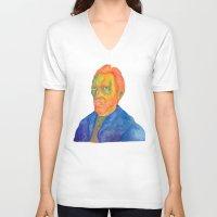 van V-neck T-shirts featuring Van  Gogh by gunberk