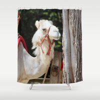 camel Shower Curtains featuring Ivory Camel by IowaShots