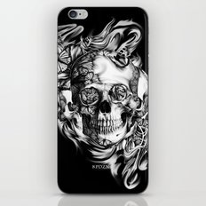 Butterfly smoke skull on black base.  iPhone & iPod Skin
