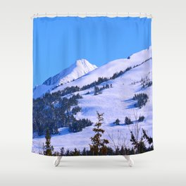 Back-Country Skiing  - IV Shower Curtain