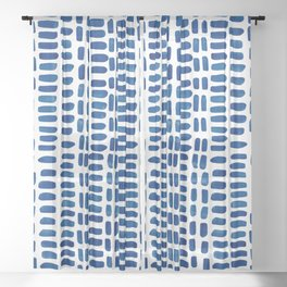 Abstract rectangles - dark blue Sheer Curtain