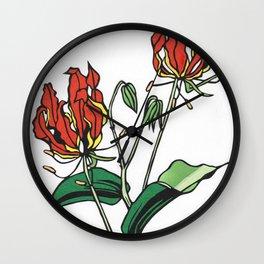 Kitsune Yuri Wall Clock