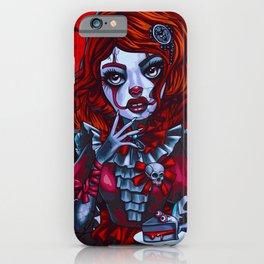 Creepy It Clown Girl (Painting) iPhone Case