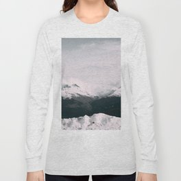 Mountain relief Alps Long Sleeve T-shirt