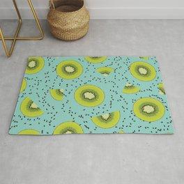 Turquoise kiwi pattern Rug