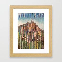 Edinburgh mixed media collages Framed Art Print