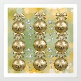 The Joy of Christmas - Gold Art Print