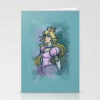 princess peach Stationery Cards featuring Princess Peach by Karen Hallion Illustrations