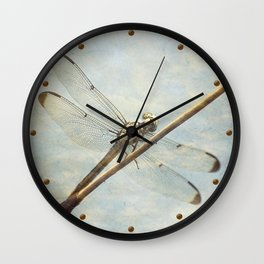 Libellule -- Dragonfly Seems Curious Wall Clock