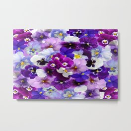 graphic background pansy easter Metal Print