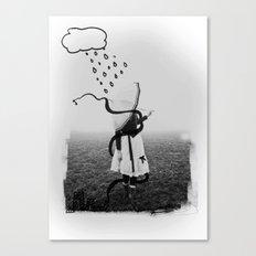 Holding Umbrella Canvas Print