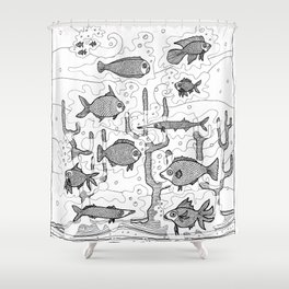 Diversity (underwater) Shower Curtain
